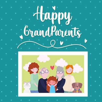 幸せな祖父母の写真