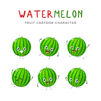 Happy green watermelon collection