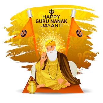 Happy guru nanak jayanti celebration