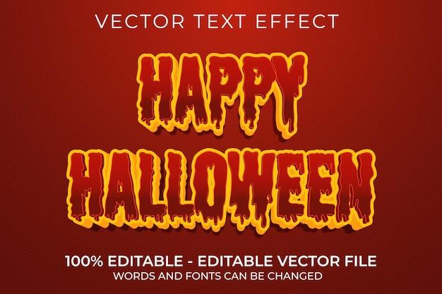 Счастливый хэллоуин 3d редактируемый текстовый эффект