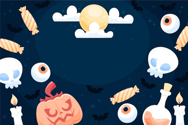 Happy halloween background design