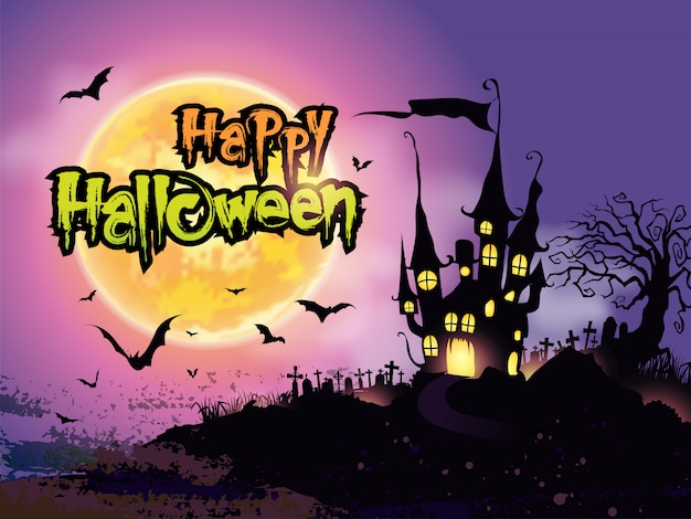 Happy halloween background,halloween night background