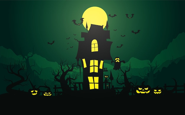 Счастливый фон хэллоуина, хэллоуин.