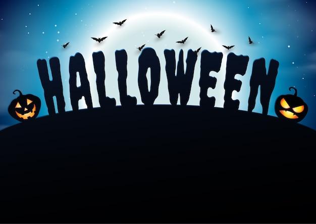Happy halloween background paper art style.