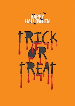 Happy halloween background, trick or treat.