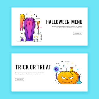 Happy halloween. banners set