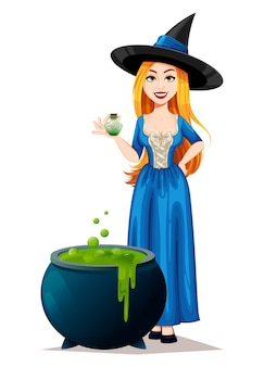 Happy halloween. beautiful witch
