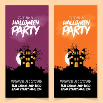 Happy halloween brochure design vector