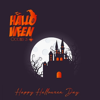 Happy halloween brochure design vector