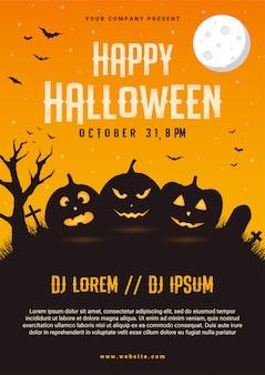 Happy halloween business flyer design template