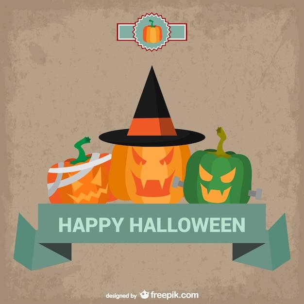 Happy halloween карта с тыквами