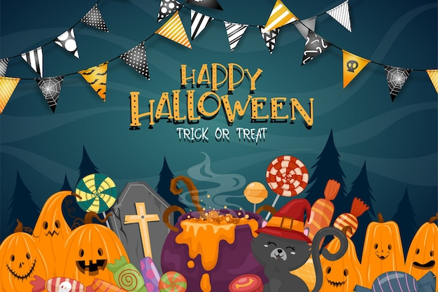 Happy halloween celebration