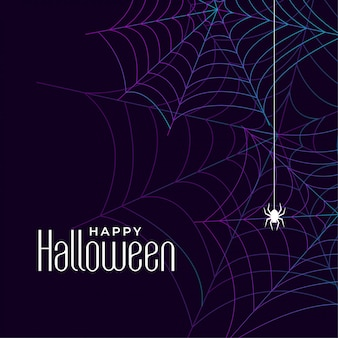 Happy halloween cobweb background with spider