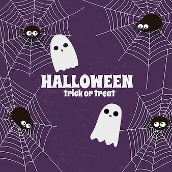 Happy halloween cobweb background