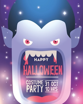 Happy halloween costume party poster