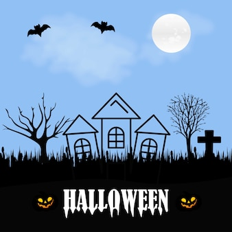 Happy halloween creative design with typography vector