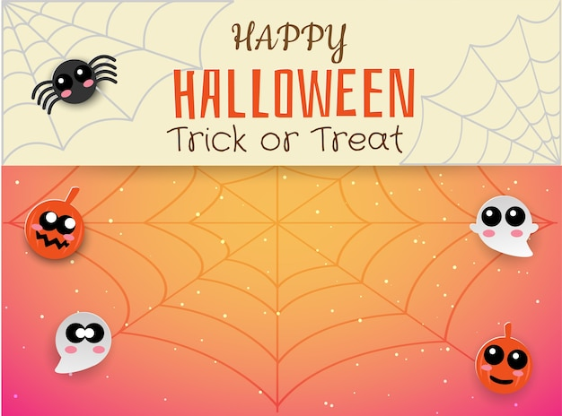 Happy halloween cute spider