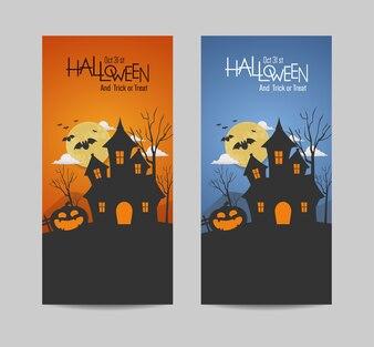 Happy halloween day banner vector design