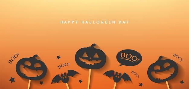 Happy halloween day banner