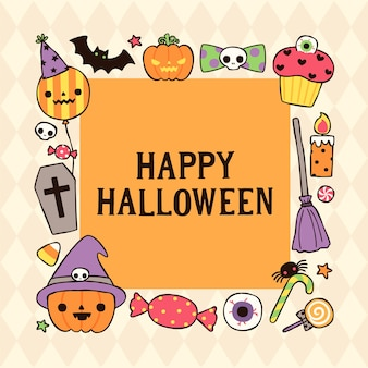 Happy halloween day card