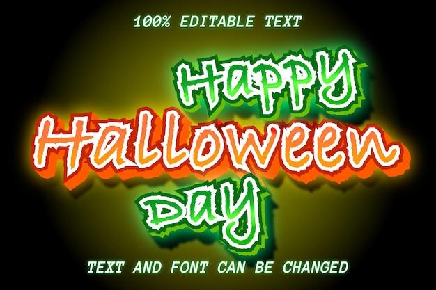 Happy halloween day editable text effect modern style Premium Vector