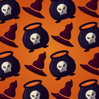 Happy halloween day seamless pattern