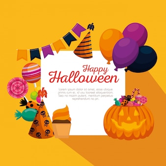 Happy halloween decoration set