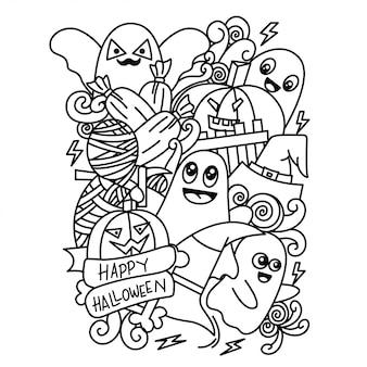 Happy halloween doodle