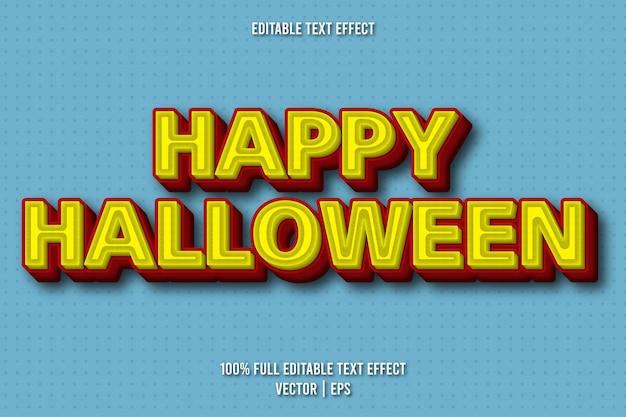幸せなハロウィーンの編集可能なテキスト効果コミックスタイル