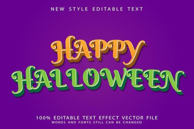 Happy halloween editable text effect emboss modern style