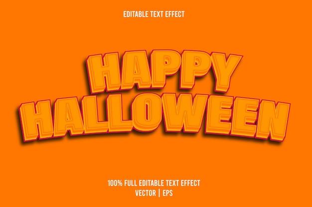 Happy halloween editable text effect orange color