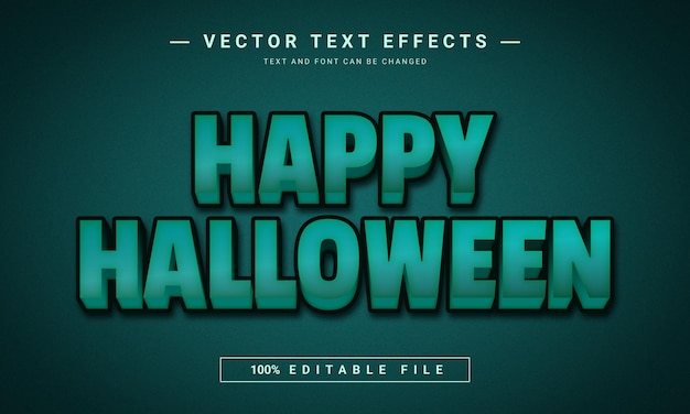 Happy halloween editable text effect