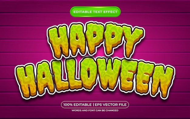 Happy halloween editable text style effect suitable for halloween event