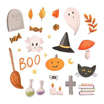 Happy halloween element collection