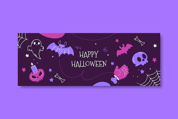 Happy halloween facebook cover template