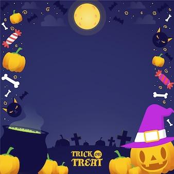 Счастливая рамка на хэллоуин