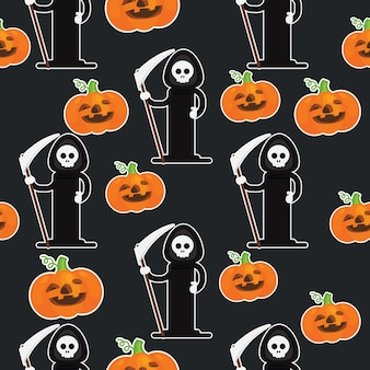Happy halloween geometric pattern collection