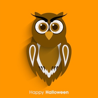 Happy halloween greeting card for the celebration of festival