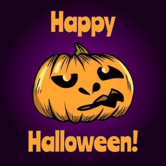 Happy halloween greeting card. halloween banner or poster.