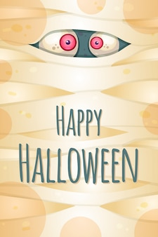 Happy halloween greeting card vector template