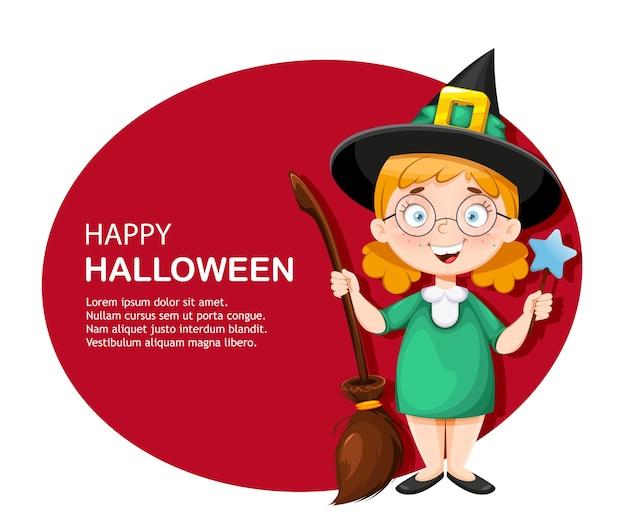 Счастливая поздравительная открытка хэллоуина