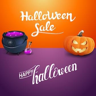 Happy halloween and halloween sale