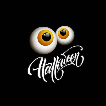 Happy halloween. hand drawn creative calligraphy and brush pen lettering. vector illustration eps10