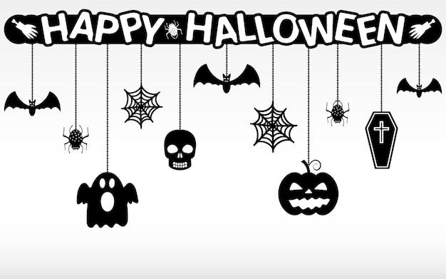Happy halloween hanging ornaments