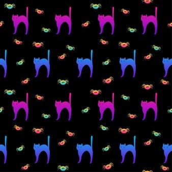 紙生地テキスタイルプリントパーティーの壁紙をラッピングするための幸せなハロウィーンの休日のシームレスなパターン