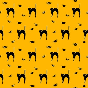 Happy halloween holiday seamless pattern for wrapping paper fabric textile print party wallpaper