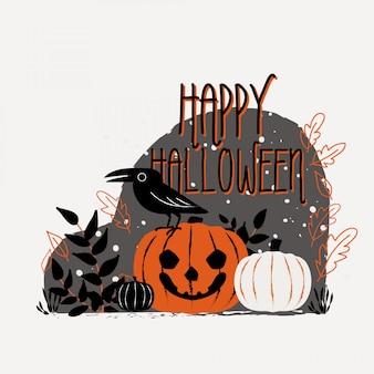 Happy halloween illustration.