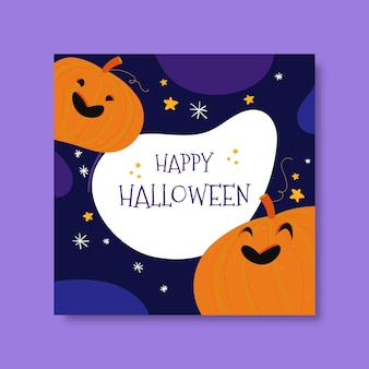 Modello di post di instagram di halloween felice