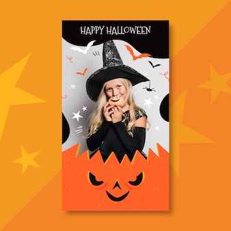 Happy halloween instagram story template