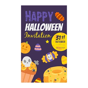 Happy halloween invitation banner.